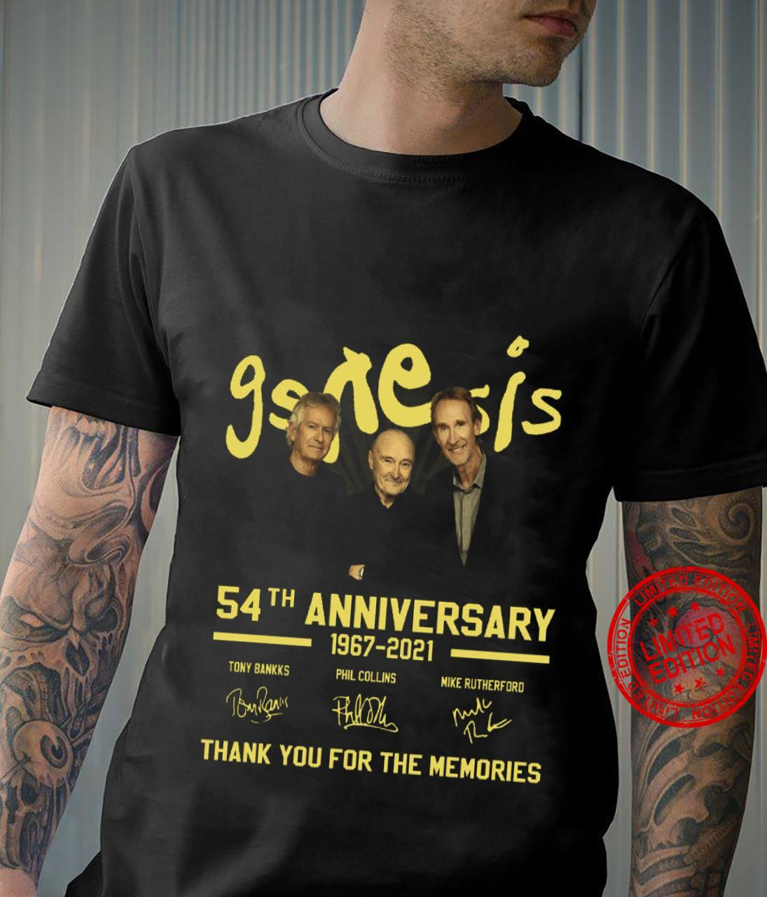 Genesis 54th Anniversary 1967 2021 Thank You For The Memories Shirt
