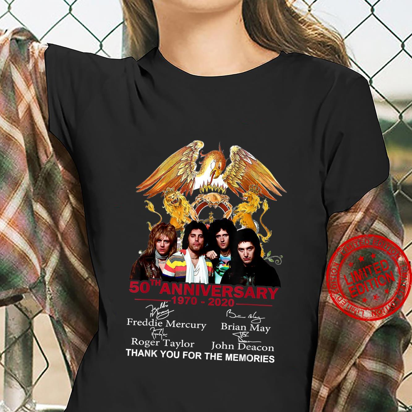 Thank You For The Memories Queen 50th Anniversary Shirt ladies tee