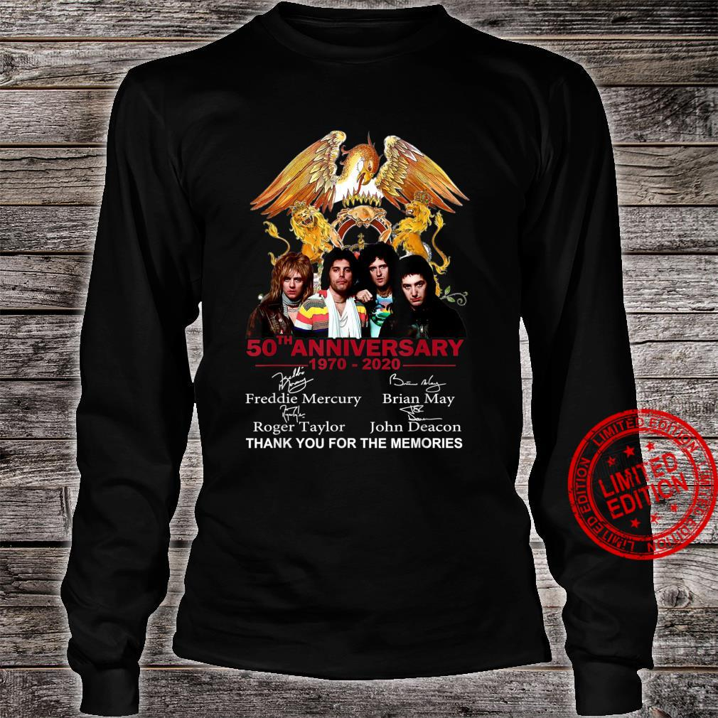 Thank You For The Memories Queen 50th Anniversary Shirt long sleeved