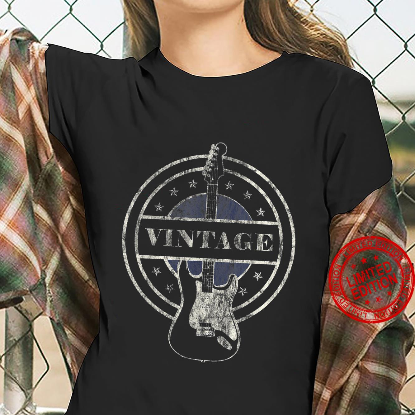 Vintage Guitar Player Rock and Roll Shirt ladies tee