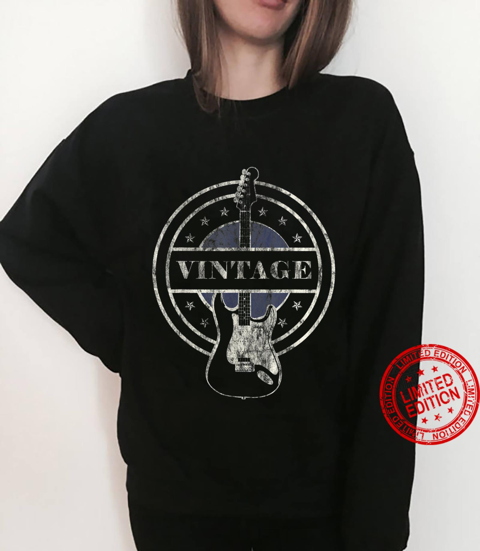 Vintage Guitar Player Rock and Roll Shirt sweater