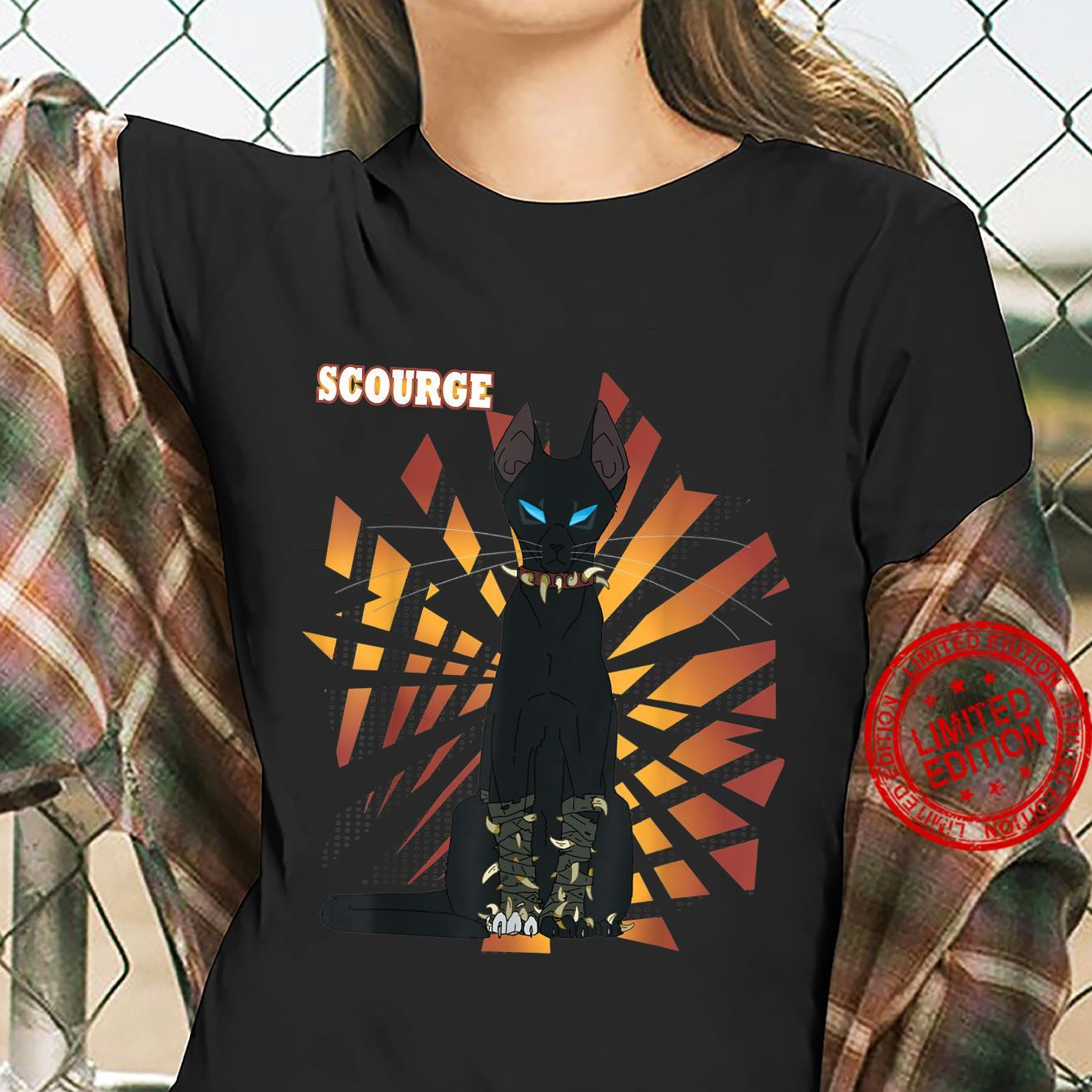 Warrior Cats Scourge from Warriors book Series Shirt ladies tee