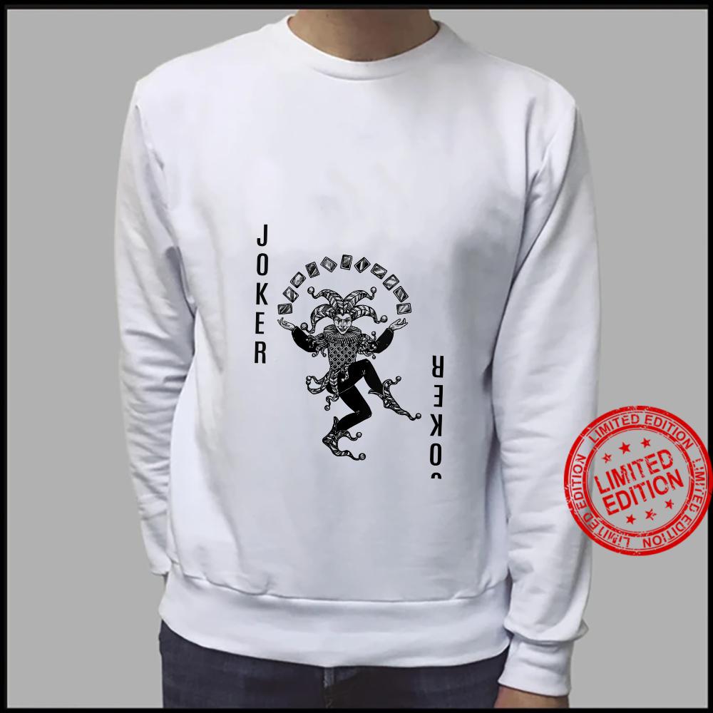 Womens black and white Joker Card Deck Halloween Shirt sweater
