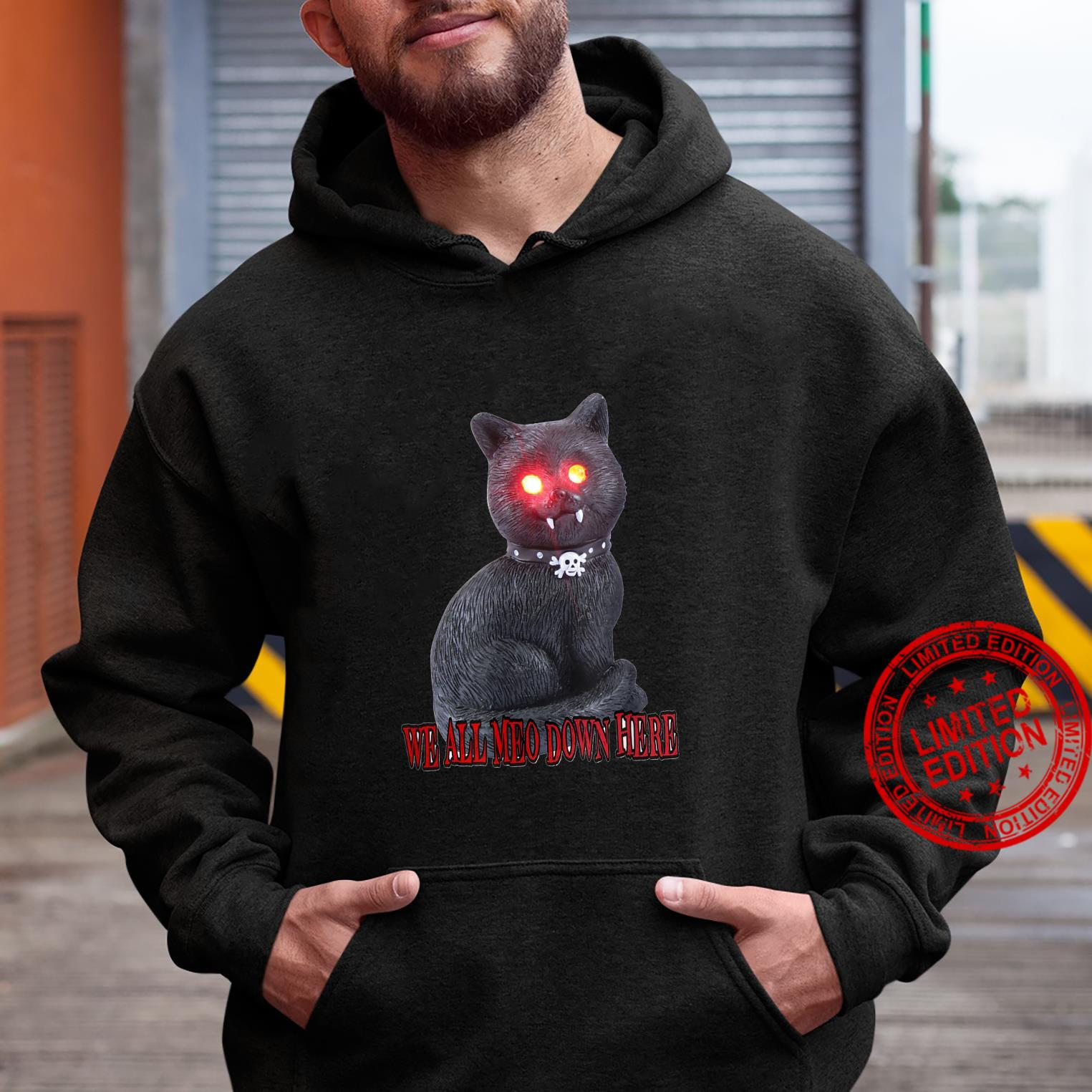 spooky cat - we all meo down here Shirt hoodie